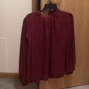 Tops - Maroon red blouse